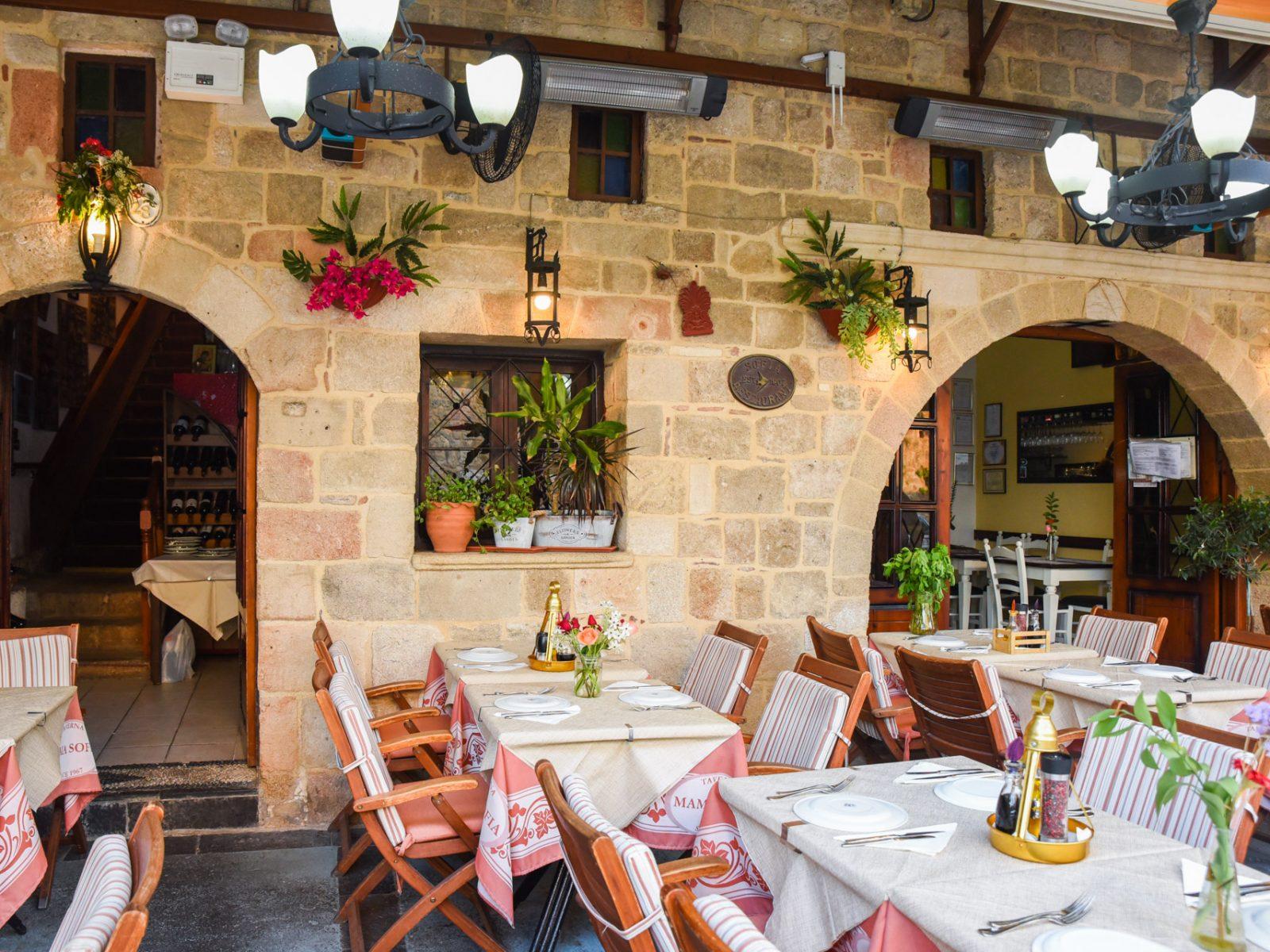 Mama Sofia Restaurant in Rhodes Town